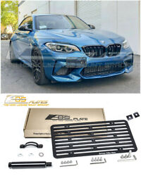 Eos For 16-up Bmw F87 M2 | Full Sized Front Tow Hook License Plate Bracket