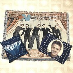 Vintage Nsync Blanket Throw Pillow And Justin Timberlake Case No Strings Attached