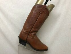 DAN POST Brown All Leather Cowboy Western Boots Mens Size 9.5 D Style 6851