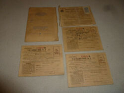 Vintage World War Ii Wwii Ww2 Ration Books Lot Stamp 1942 Us Army Marines Navy