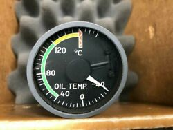 Indicator Oil Temp P/n 162bl704c 8130-3 Airline Trace 12318 2