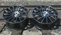 22 Road Force Rf16 Rims Gunmetal Tint Stagger Wheels Tires Fit Mercedes S550 S63