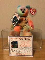 Peace Beanie Baby Several Misprints Ultra Rare One-of-kind Jazz-n-space