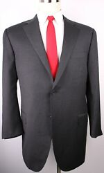 Canali Gray Solid Wool Two Button Side Vented Suit 44 Regular 38 28 Flat Recent