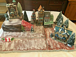 Christmas Buildings Village Display Platform Dept 56 Lemax Candy Cane Staircase