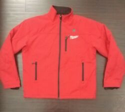 Milwaukee Mens M12 Cordless Heated Jacket Toughshell L Red (Jacket ONLY)