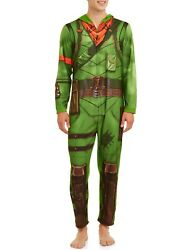 Briefly Stated Union Suit Fortnite Rex Dinosaur Pajamas Pjs Cosplay Costume L