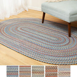 Cherry Hill Wool Braided Rug For Home Decor   Reversible   Made In The Usa