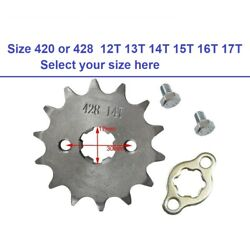 Engine Sprocket 17mm Front Chain 420 428 12t 14t 15t 16t 17t Pit Dirt Bike Atv