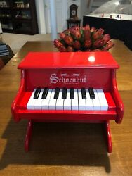 Schoenhut 18 Key My First Piano Children Learning Play Toy Red Used