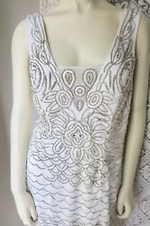 SUE WONG Beaded amp; Lace Evening Gown Special Event Wedding Size 12 42 44 Bust $49.00
