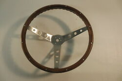 Vintage Real Wood Steering Wheel 15 Inch By 4 Custom Rat Hot Rod Chevy Ford