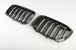 BMW OEM 2019+ G02 F98 X4 M Performance Front Carbon Fiber Grille Pair Brand New