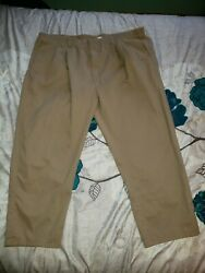 3 Pair Of King Size Wrinkle-resistant Cotton Pleated Pants 50 38 Hemmed To 32