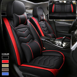 6d Luxury Pu Leather Car Seat Cover 5 Seats Cushions Front And Rear Set