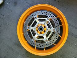 08-16 Honda Cbr1000rr Sp Repsol Front Wheel Rim Rotors Orange Oem 100 Straight