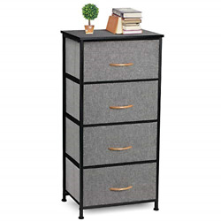COSYLAND 4 Drawer Dresser Storage Tower Fabric Organizer Unit Stable for Room