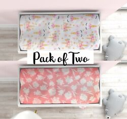 2 Pack Changing Pad Cover, Unicorn Diaper Changing Table Pad Covers, Boy Or Girl