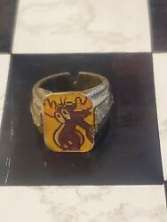 Rare 1960's Vintage Bullwinkle Gumball Prize Flicker Ring