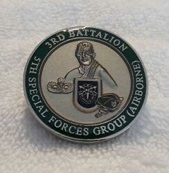 Authentic Us 3rd Bn 5th Special Forces Group Airborne 438 Rare Challenge Coin