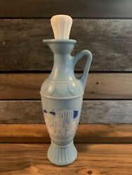 1960 Jim Beam Chariot Greek Roman Soldier Light Blue Decanter With Topper- 103
