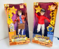 """Harry Potter """"wizard Sweets"""" Dolls Harry And Hermione Mattel 2000"""