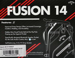 Callaway Fusion 14 Men's Stand Bag 9In 5.5lb 14Way PVC Free EMS NavyWhtiePink