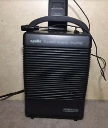 Portable Speaker Apollo Commercial Wireless Amplifier Amp Ac Dc Battery Pa-5000