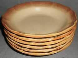 Set 6 1970s-80s Mikasa Whole Wheat Pattern Soup/cereal Bowls Made In Japan