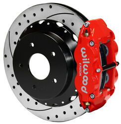 Wilwood Disc Brake Kitrearchevy C-10 Truck13 Drilled Rotorsred Calipers