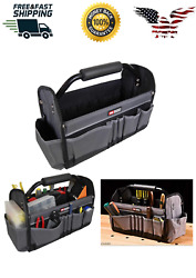 Heavy Duty Collapsible Tool Bag Pocket Carrier Organizer Electrician Contractor