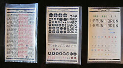 Vintage 3 Sheets Of 1/72nd Scale Micro Decals By Studio