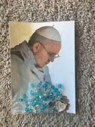 L@@k Beaded Catholic Religion Vatican Prayer Rosary Blessed By Pope Francis