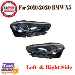 For 2019 2020 Bmw X5 Pair Of Led Headlight Left Driver And Right Passenger Side