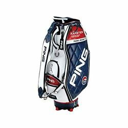 PING Golf Men's Caddy Bag KARSTEN Design 9.5 x 47 inch 4.5kg White Navy CB-C202