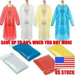 10PCS Disposable Poncho Protective Suit Outdoor Hiking Emergency Rain Coat