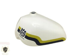 Husqvarna White Painted Yellow And Blue Line Aluminium Tank 1982-1983|fit For