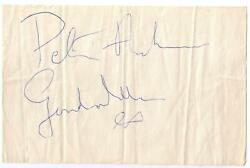 Peter Asher And Gordon Waller Autographs Signed In 1964 Beatles Era