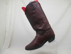 DAN POST Wine Full Leather Cowboy Western Boots Mens Size 10 M - 142067