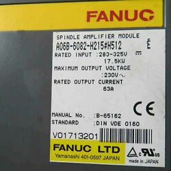 1pcs Used For Fanuc A06b-6082-h215h512 Spindle Amplifier Fully Testedqw