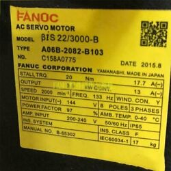 1pcs Used For Fanuc A06b-2082-b103 Servo Motor Tested In Good Conditionqw