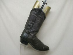 Dan Post Brown All Leather Western Cowboy Boots Mens Size 11.5 D Style 6550 USA