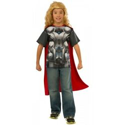 Child Thor T Shirt Costume Thor Halloween Fancy Dress