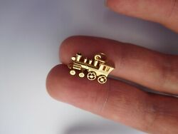 Rare Authentic Original Early 1900s 14k Gold Train Sloan And Co. Pendant Charm