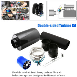 Car 3filter Box Title Induction Ram Cold Air Intake System Double Turbine Turbo