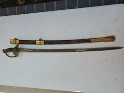1852 Antique Military Engraved W.h Horstmann And Sons Civil War Sword