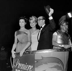 Old Movie Photo Entertainer Phil Silvers Attends A Movie Premiere