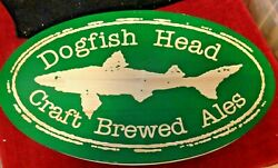 Rare Large Dogfish Head Brewery Wood Carved Double Sided Display Beer Pub Sign