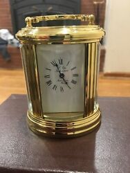 Antique Land039 Epee Sainte Suzzane French 11 Jewels Carriage Clock W Key 031704 Read