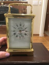 Vintage French Land039epee Grande Striking Repeater Alarm Carriage Clock-notes 031705